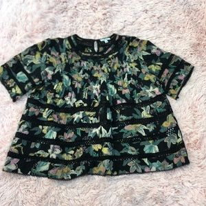 Aritzia Wilfred Floral Beaudry Baby Doll Blouse